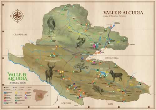 Plano Turístico del Valle de Alcudia